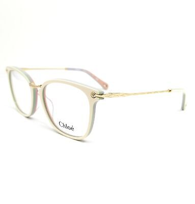 CHLOE Eyeglasses CE2734 107 White-Rose Rectangle Women 53x17x140