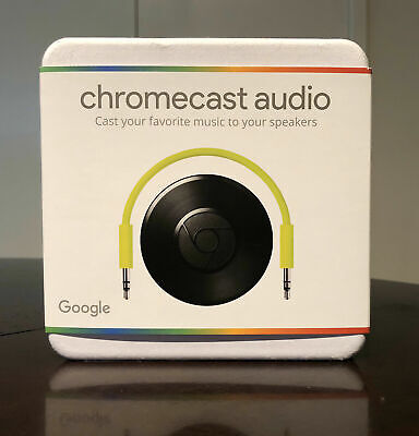 BRAND NEW! Google Chromecast Audio, Wifi media player - NEVER OPENED!