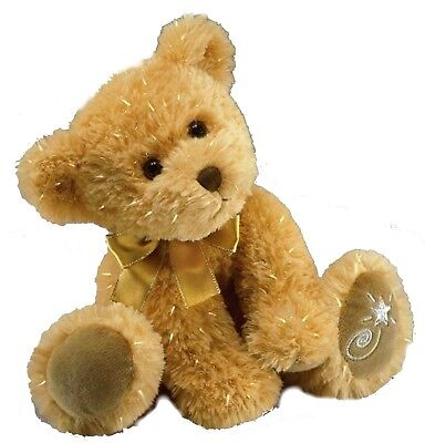 Russ Berrie Shining Stars HONEY BEAR Fuzzy Soft Plush Tan Teddy Bear NWT