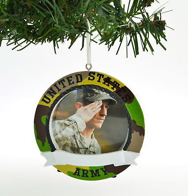 PERSONALIZED CHRISTMAS ORNAMENT PICTURE FRAME-UNITED STATES ARMY CAMO