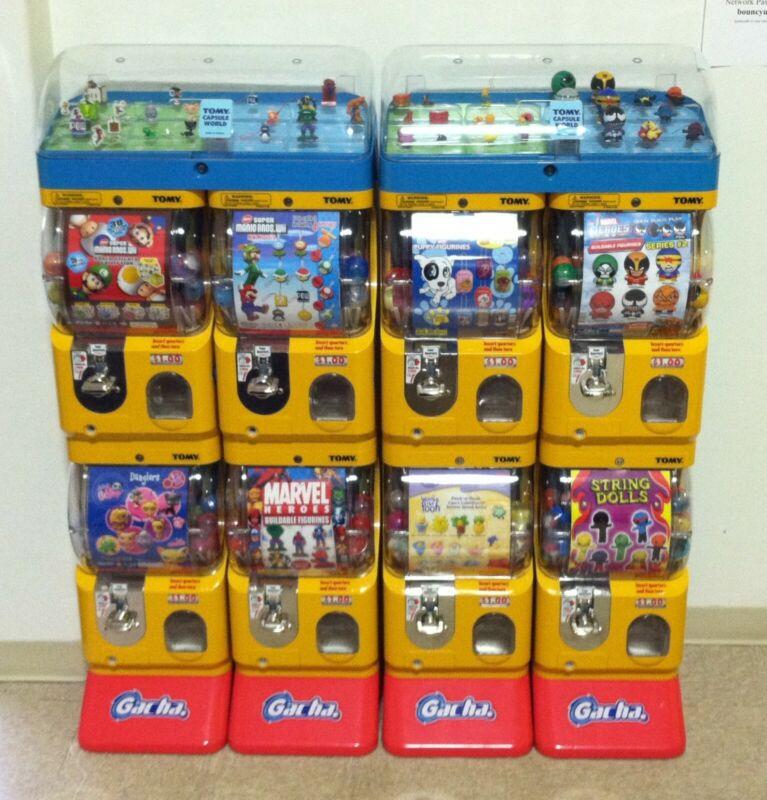Tomy Gacha Toy Capsule Vending Machine Double Unit