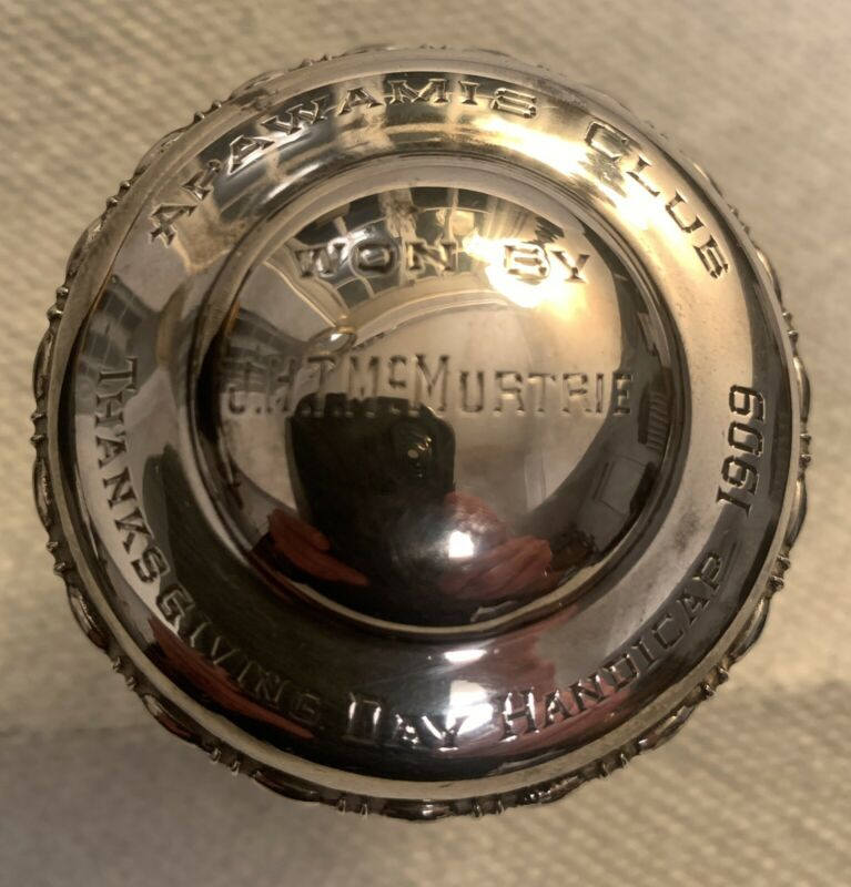 The Apawamis Club. RARE - Sterling Silver Decanter Top. (1909) ONE OF A KIND!!!