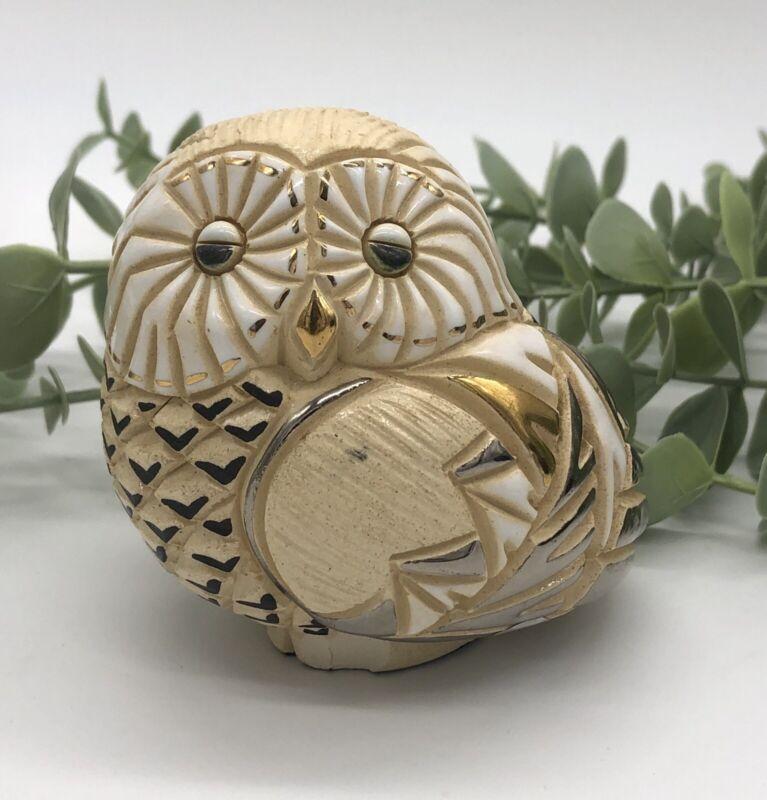 De Rosa Rinconada Collection Snow Owl Figurine Handmade Silver Anniversary