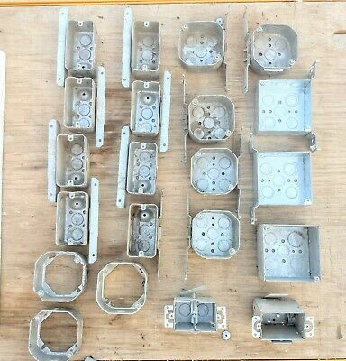 Lot Of 21 Raco Electrical Switch Boxes Different Sizes Unused