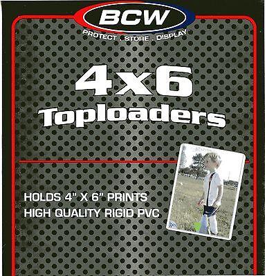 100 4 X 6 RIGID PLASTIC TOPLOAD CARD HOLDERS