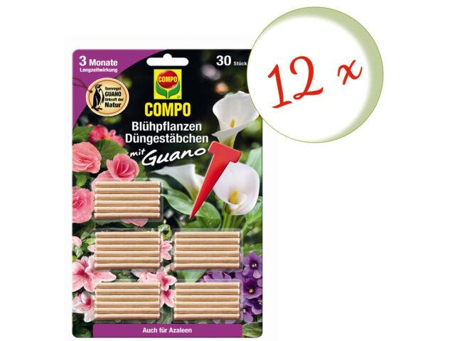 Set Risparmio: 12 X Compo Piante Fiorite Asticelle Con Guano , 30 Pezzo