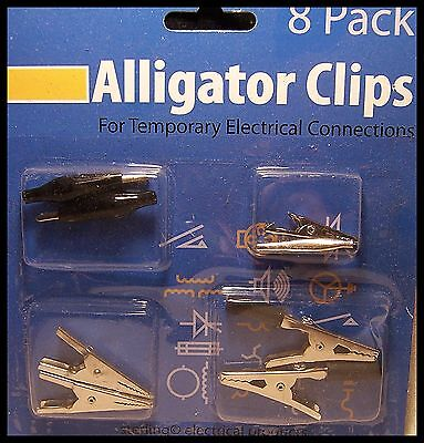 Alligator Clips Auto Electrical Testing Probe Jumper Low Voltage Power Lead New