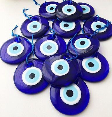 100 Pieces Turkish Greek Evil Eye Nazar Good Luck Charm Amulet 2 Inch Wholesale