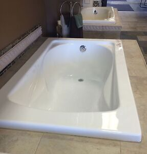 Carver tubs sr6036 60 x 36 white soaker tub standard size for Drop in tub sizes