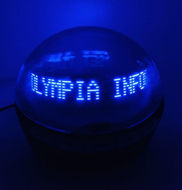 Olympia Info Globe Digital Caller ID w/ Real-Time Clock Model OL3000.2 Tested