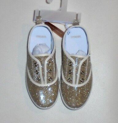 Gymboree Girls Gold Sparkle Tennis Shoes Size 10 (Girls Gold Sparkle)