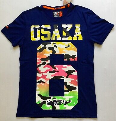 Men's Superdry Osaka All Over Print Lite T-Shirt M10104AT Royal Grit Size M