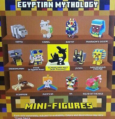 MINECRAFT MINI-FIGURES NEW/SEALED & LOOSE SERIES 17 EGYPTIAN MYTHOLOGY!