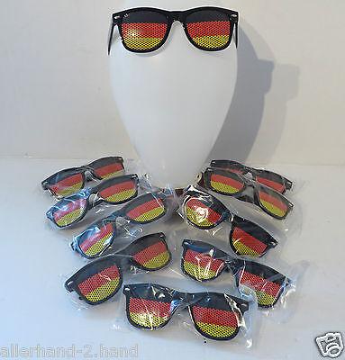 SONDERPREIS ° 10 Stk Sport Fanbrille DEUTSCHLAND SONNENBRILLE Brille Fussball WM
