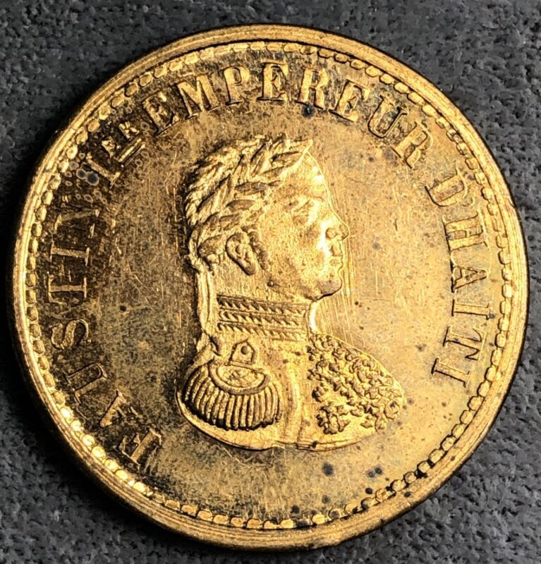 Haiti 10 Centimes, 1855. Proof Pattern. KM# PN69a.