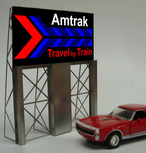 MILLER ENGINEERING AMTRAK TRAVEL BY TRAIN NEON SIGN KIT HO/O SCALE train 8281