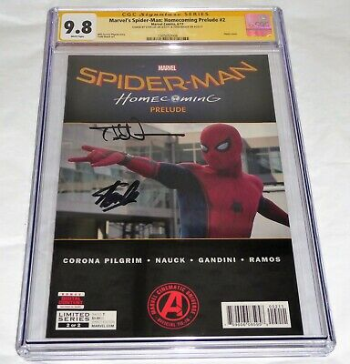 Marvel's Spider-Man Homecoming Prelude #2 CGC SS Signature Autograph STAN LEE 🔥