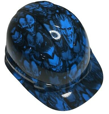 Light Blue Hard Hat (Hydro Dipped Hard Hat Ridgeline Cap Style Custom Light Blue Joker W/ Free)