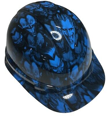Hydro Dipped Hard Hat Ridgeline Cap Style Custom Light Blue Joker W Free Shirt