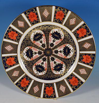 "Royal Crown Derby Imari 1128 10.5"" Dinner Cabinet Plate c.1975"