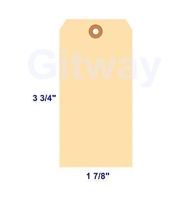 1000- 3 34 X 1 78 Size 3 Blank Manila Inventory Shipping Hang Tag Tags 10 Pt