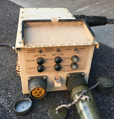 Military Dual Generator Synch Box 100a Power Cables Sn-571mv 120208 3ph