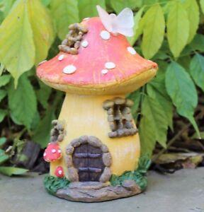 Garden Fairy Mushroom Flower  House Solar Decorative Ornament Secret Gift