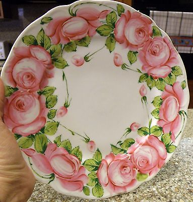 Hand Painted German Porcelain Plate Marked