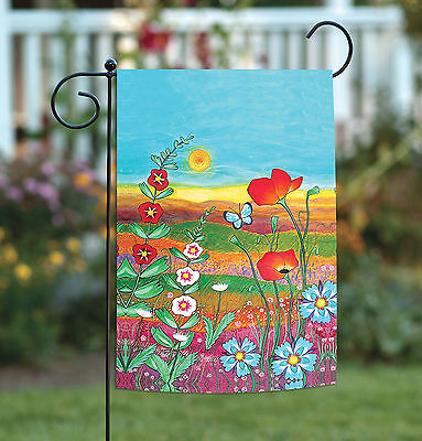 Toland Fields of Flowers 12.5 x 18 Bright Colorful Spring Flower Garden Flag