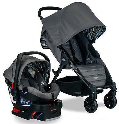 Britax Pathway Stroller & B-Safe 35 Infant Car Seat Travel System Crew NEW