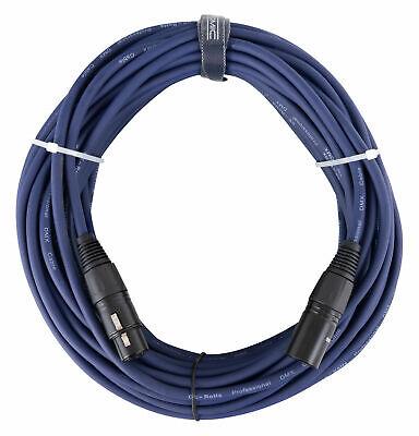 20m Profi DMX Kabel XLR Male Zu XLR Female Licht Effekt Cable...