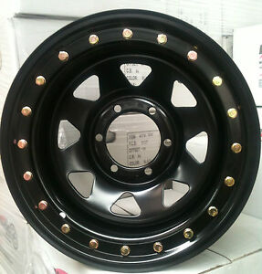 16-4X4-wheels-4WD-rim-steel-5-127-25N-BLACK-BEADLOCK-JEEP-WRANGLER-SPORT-MUSCLE