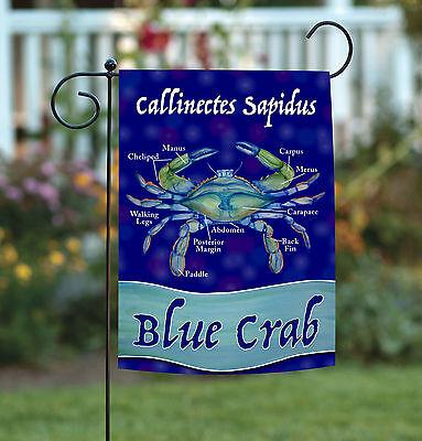 Toland Chesapeake Blue Crab 12.5 x 18 Crustacean Anatomy Claw Garden Flag ()