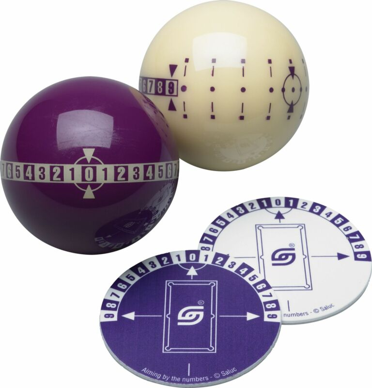"""Aramith """"Aiming By Numbers"""" Pool Balls Training Set"""