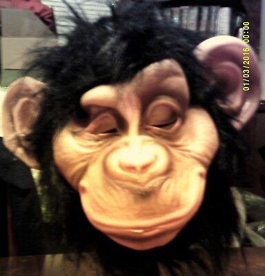 Chimpanzee Mask ( Chimp Chimpanzee Monkey Ape Full head Latex Mask Halloween Costume)