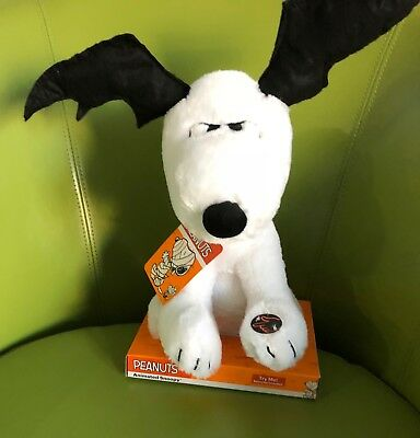 Peanuts Animated Snoopy Halloween Bat Ears Plays Linus & Lucy Plush Musical CUTE](Peanuts Linus Halloween)