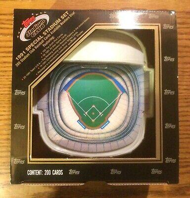1991 1992 Topps Stadium Club Dome Baseball Factory Set - 200 Card Set 1991 Stadium Club Card