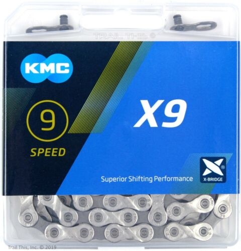 KMC X9 9-Speed Stretch-Proof Bike Chain Road MTB X9.93 fits Shimano SRAM Campy