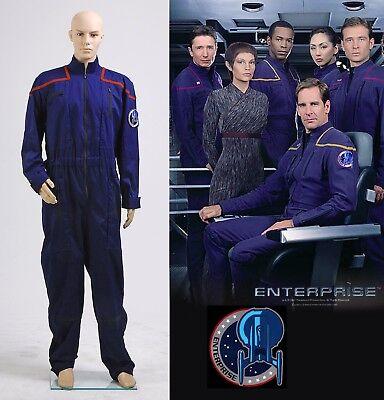 Star Trek Enterprise Duty Jumpsuit Uniform Costume Red Blue Yellow Halloween (Yellow Jumpsuit Halloween Costume)
