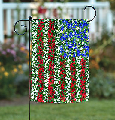 Toland Field of Glory 12.5 x 18 America USA Flower Floral Garden Flag