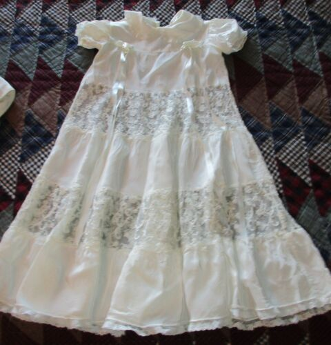 Phyllis Baby Wear Vtg Silk & Lace Infant Christening Gown