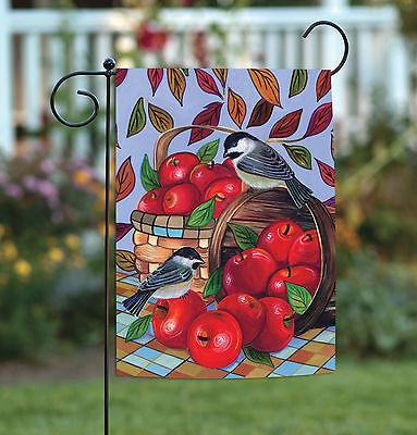 Toland Apple Basket 12.5 x 18 Colorful Leaves Fruit Bird Garden Flag - Flag Apple Basket