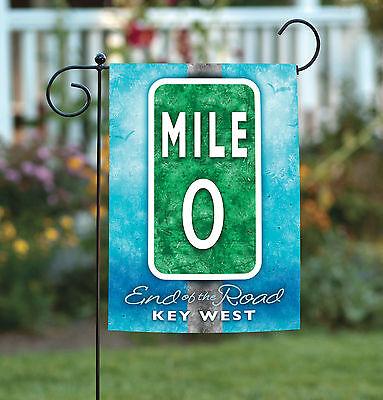 Toland Mile Marker Zero 12.5 x 18 Regional Key West Florida Garden Flag ()
