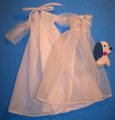 Vintage Barbie Doll Pink Nighty Negligee TM ™ Set #965 Felt Dog 1959