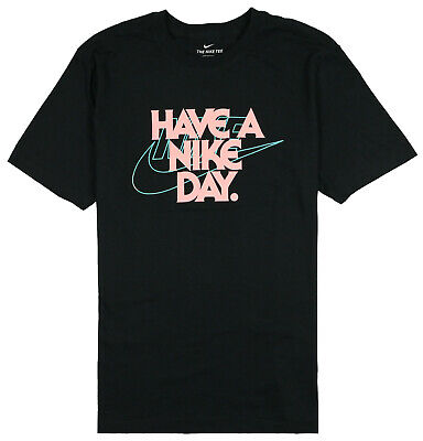 NIKE Have a Nike Day T-Shirt sz XL X-Large Black Pink Teal Air Max Day AM 90 95