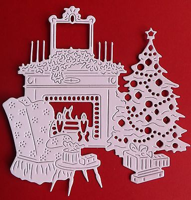 """""""CHRISTMAS HOME"""". 6 Die Cuts.Topper/Christmas (See postal discount!)"""