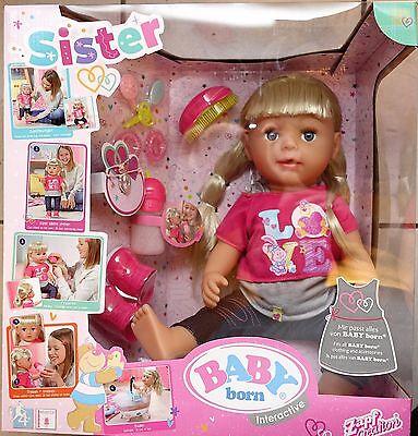 Zapf creation Baby Born Schwester Interactive Puppe Mädchen 43cm NEU OVP