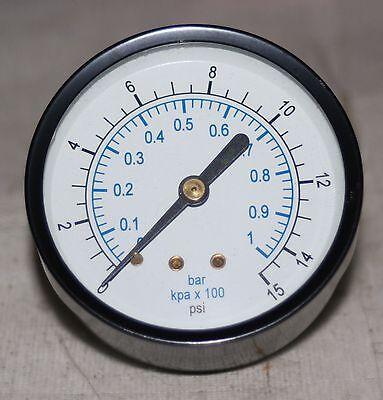 0-15 Psi 14 Npt 2.5 Dial Pressure Gauge