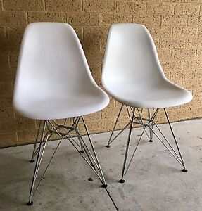 Replica Eames Eiffel Dining Chair - Metal (white) Sandringham Bayside Area Preview