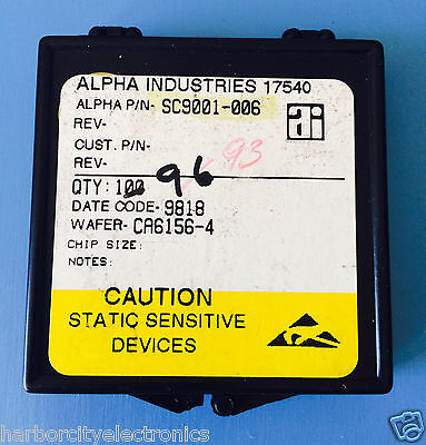 Sc9001-006 Alpha Industries Capacitor Chip Rf Microwave Product 93units Total